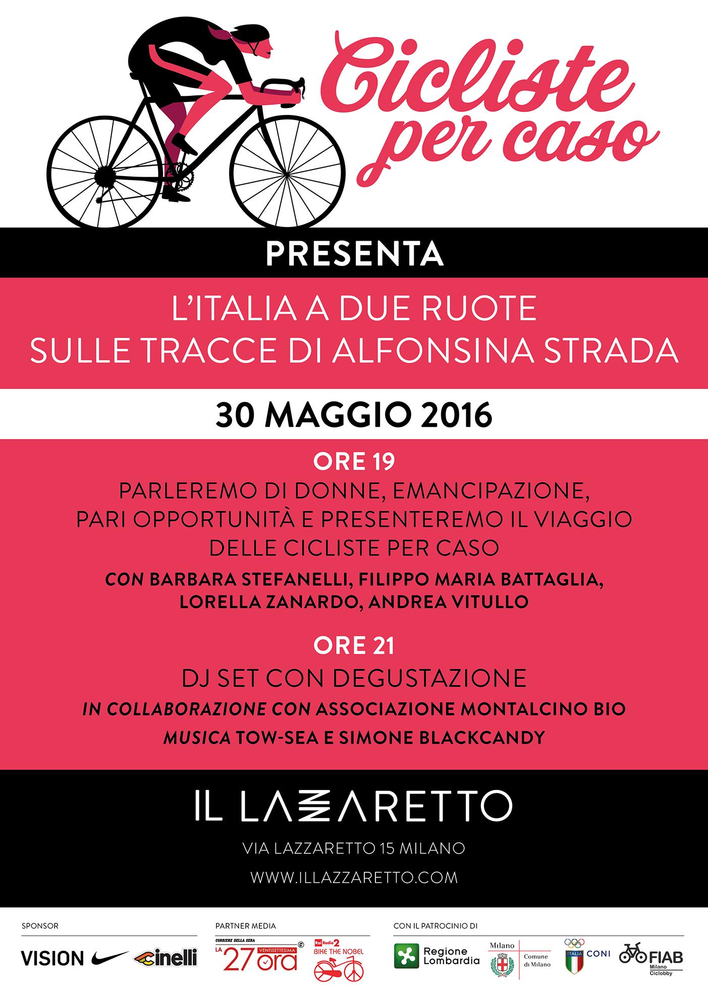 Locandina 30 maggio Cicliste