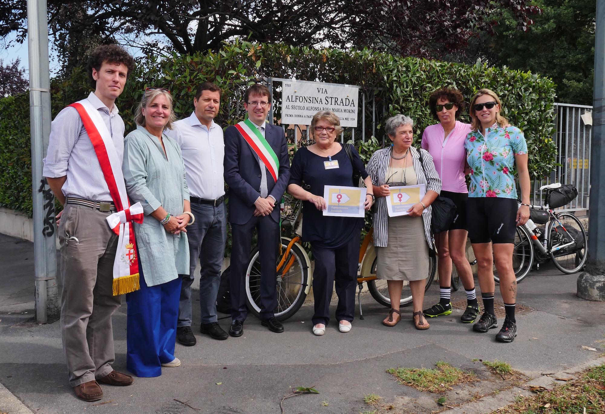 Con l'Assessore Dal Corno e le Associazioni di donne e ciclise